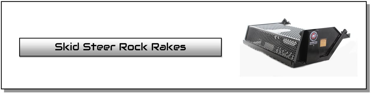 skid steer rock rake skid steer landscape rake attachments spartan